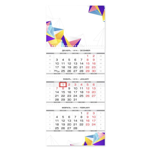 Настенный календарь с 1 рекламным полем