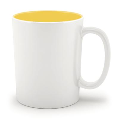 Кружка цветная внутри желтая