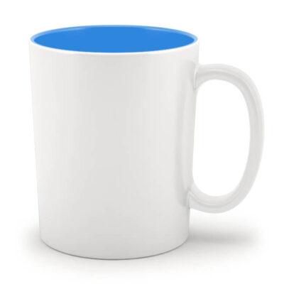 Кружка голубая внутри