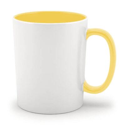 Кружка желтая внутри и с желтой ручкой