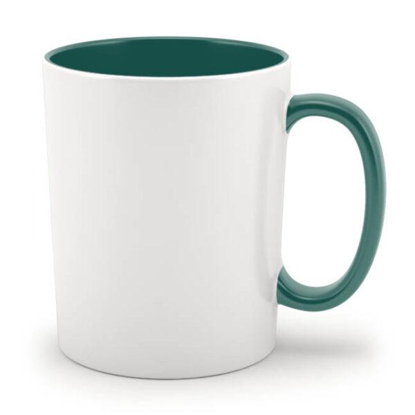 Кружка зеленая внутри и с зеленой ручкой