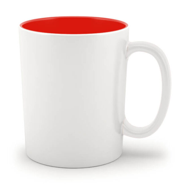 Кружка красная внутри
