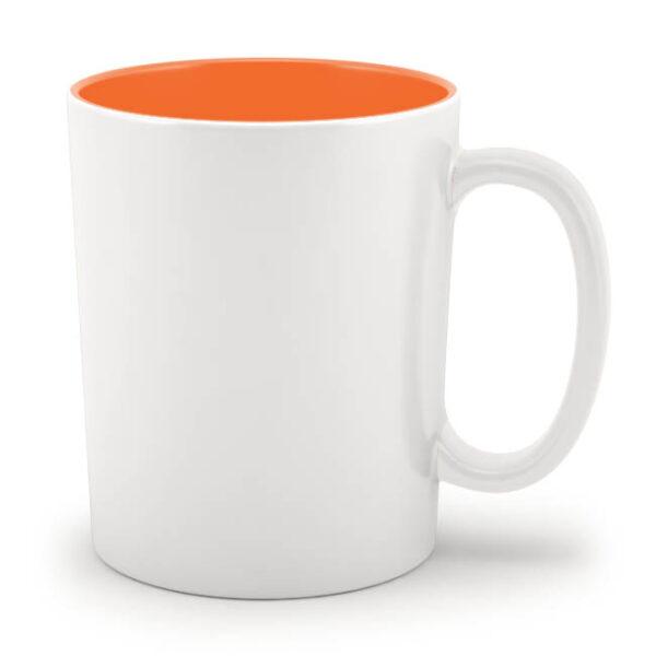 Кружка оранжевая внутри