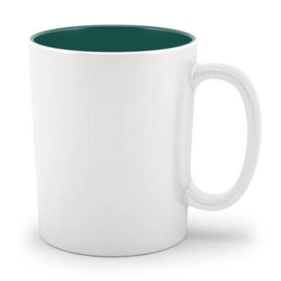Кружка зеленая внутри